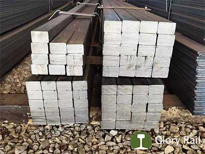 Flat steel bar rail