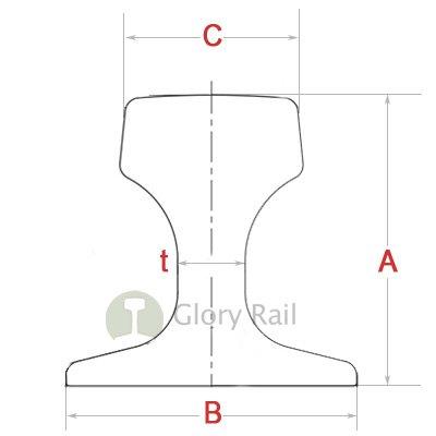crane rail drawing