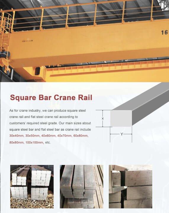Overhead crane rail flat bar