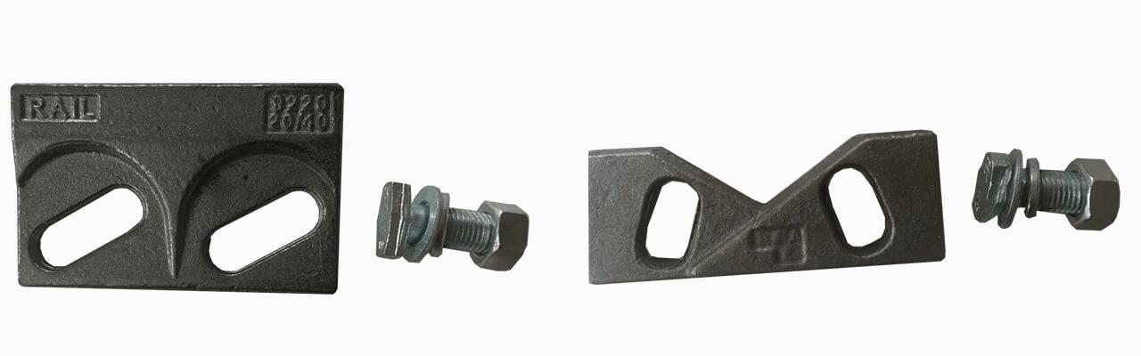 welded rail clips