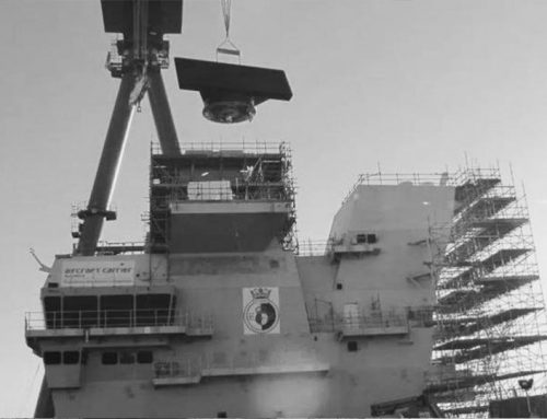 The British aircraft carrier is built with Chinese gantry cranes