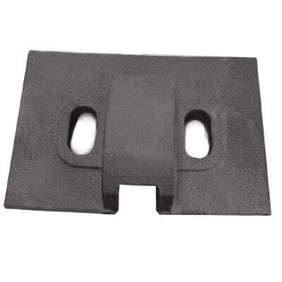 Thrust base rail clamp for coking plant rails